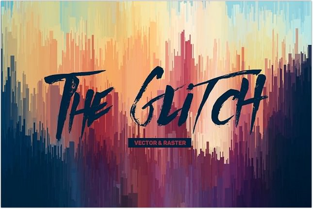 Glitch Backgrounds Vector