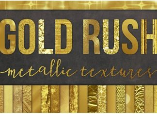 28 Gold Foil Textures Background