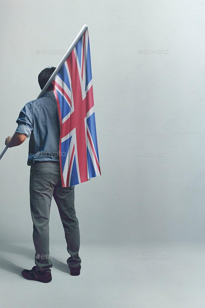 3D Flag Mockup V3