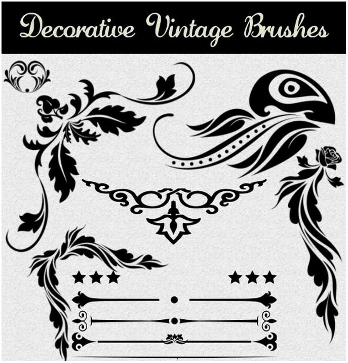 40 Decorative Vintage Brushes