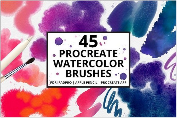 Procreate-4 Watercolor Brushes
