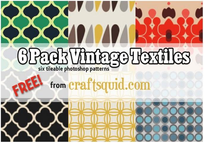 6 Vintage Textile Patterns