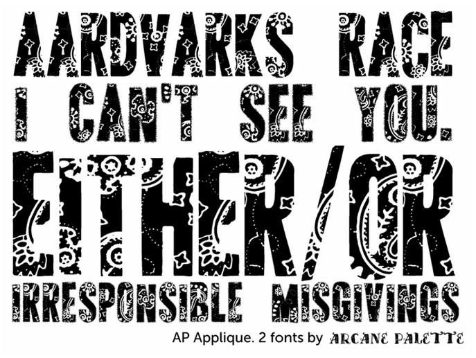AP Applique Cut font