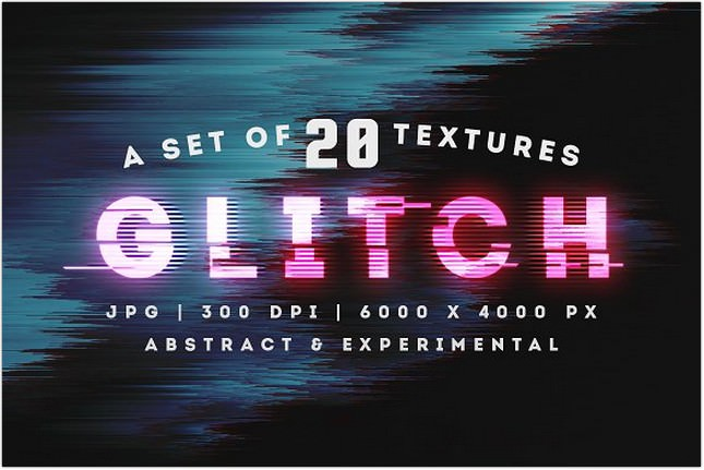 Abstract Glitch Background Texture