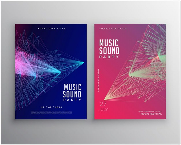 Abstract Music Flyer Template