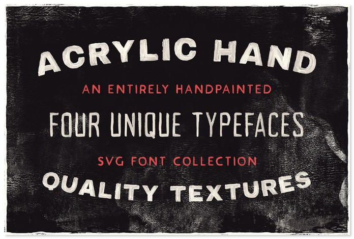 Acrylic Hand Thick Free Strong & Bold SVG Font