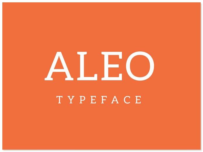 Aleo Slab Typeface