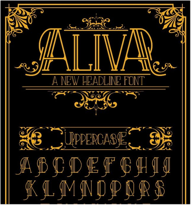 Aliva Font + Poster Vector