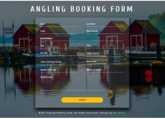 Angling Booking Form a Flat Responsive Widget Template
