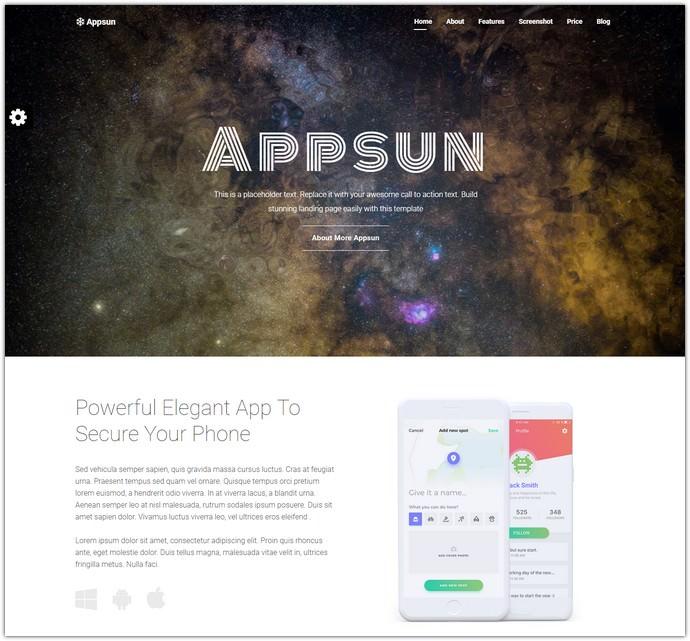mob App Landing Page Website Template