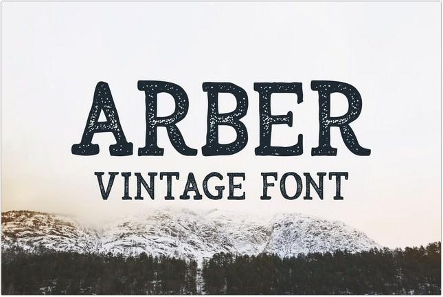 Arber Vintage Poster Font