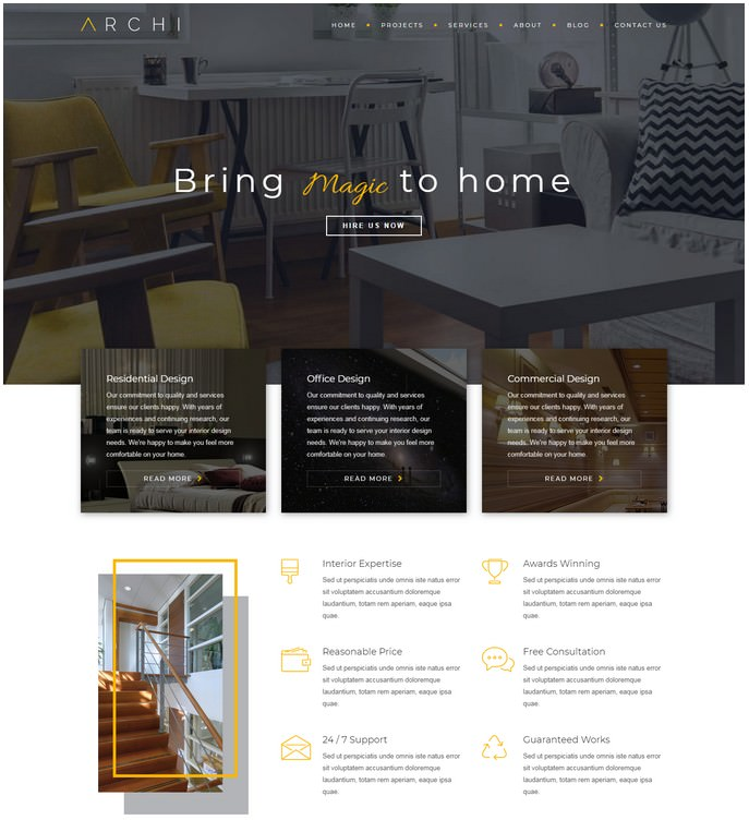 Archi - Premium Interior Design Studio Joomla Template