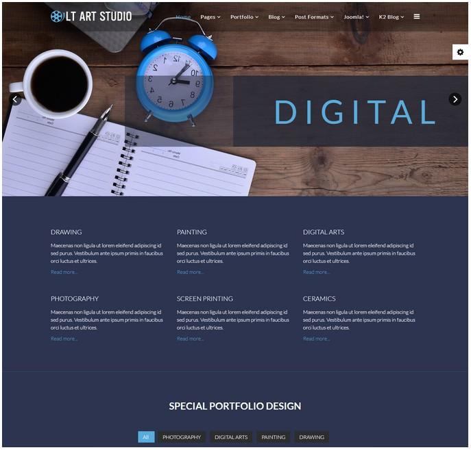 Art Studio - Premium Joomla Template