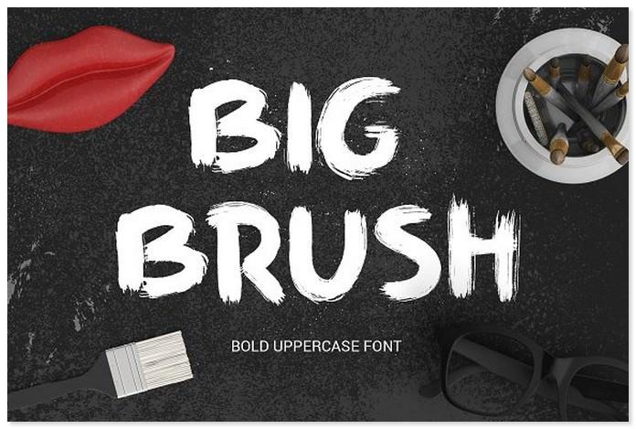 Big Brush - bold uppercase font