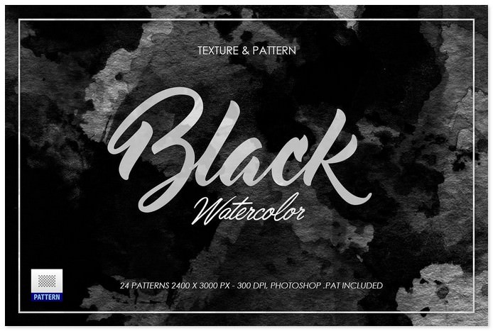 Black Dark Watercolor Texture