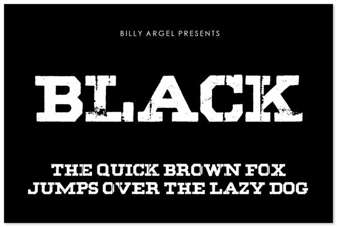 Black Decorative Font