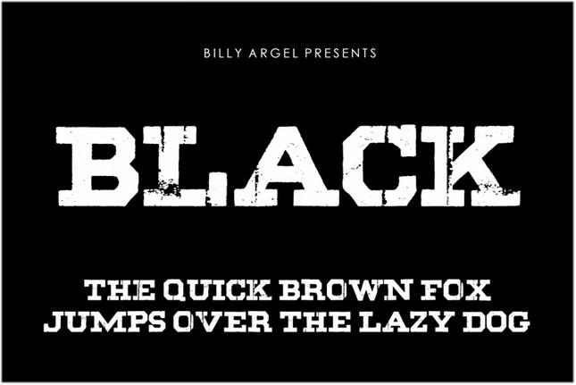 Black Fonts