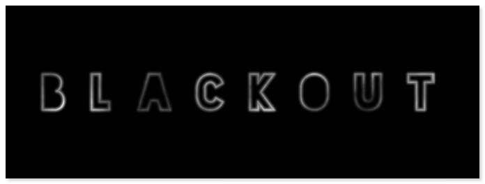 Blackout Free Font