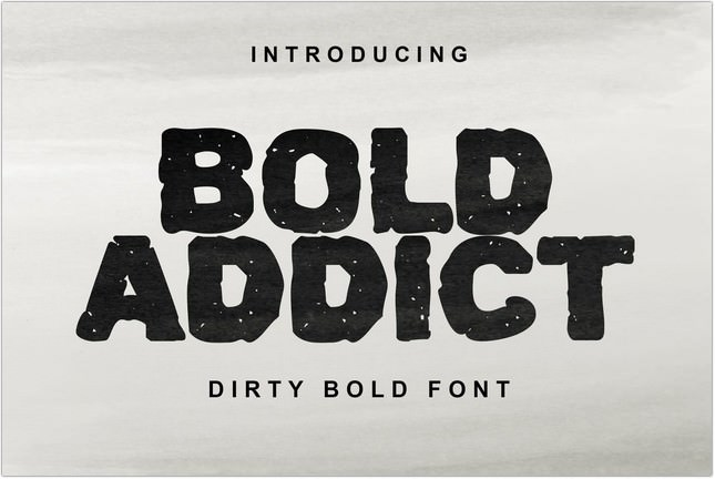 Bold Addict Poster Font