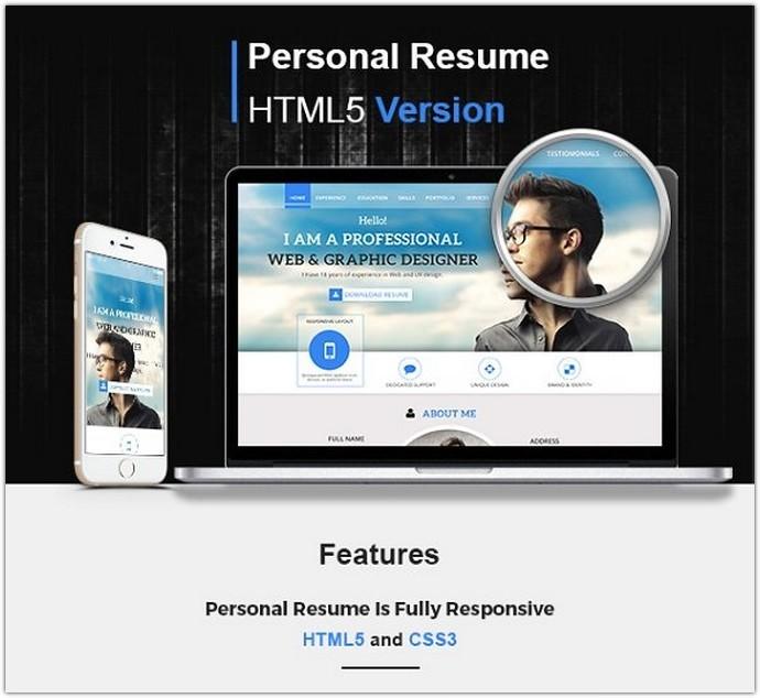 Bootstrap CV Resume template