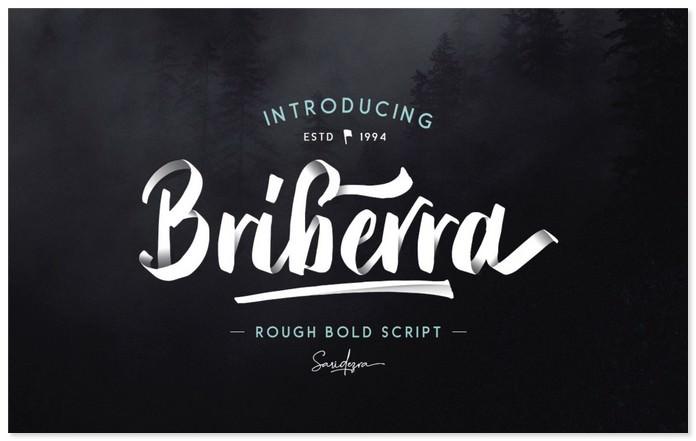 Briberra Free Rough Bold Script