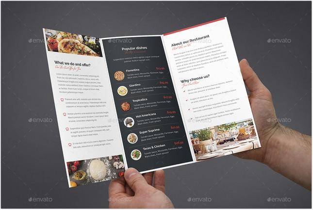 Brochure Restaurant Tri-Fold # 2