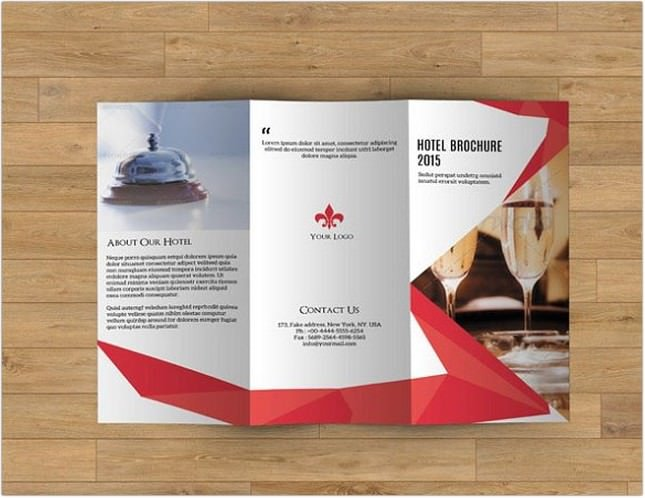 Brochure for Hotel template