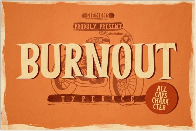 Burnout Fonts