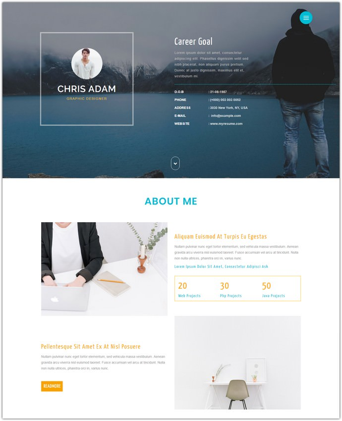 C Resume A Personal Web Template