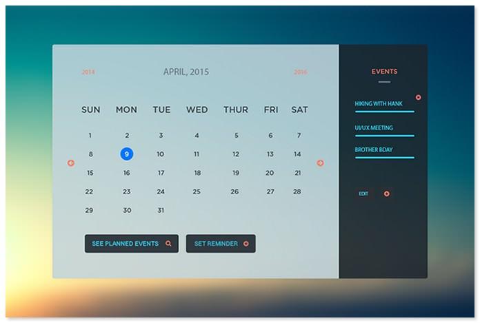 Calendar Design UI