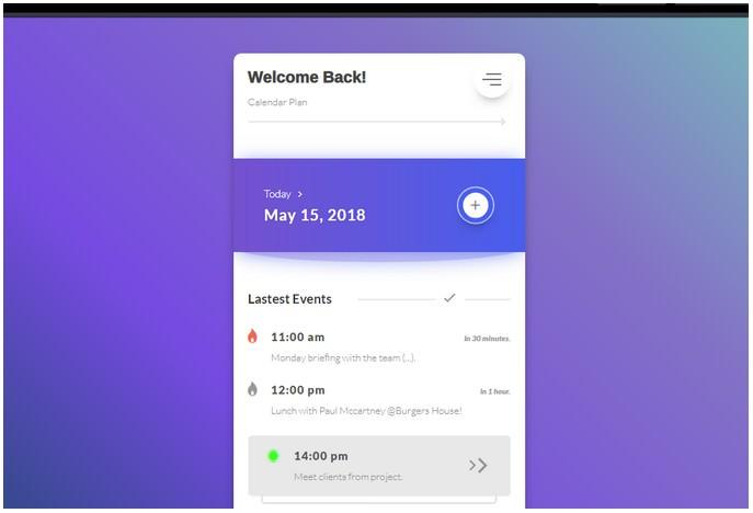 Calendar Plan - Tasks Events App #DailyPractice