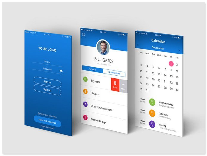 Calendar UI Ios and Android