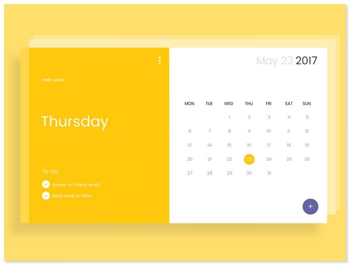 Calendar UI design # 2