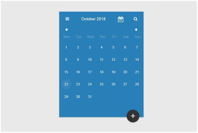 Calendar in ReactJs