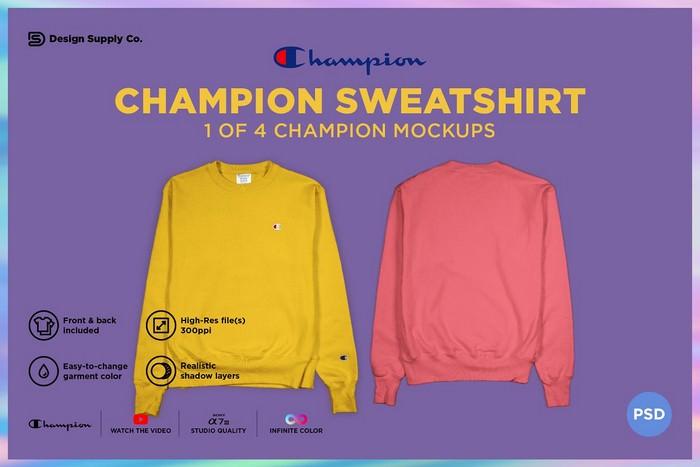 Champion Sweatshirt Mockup