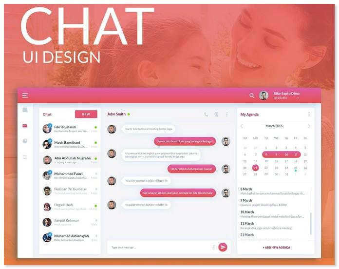 Chat UI /UX Design