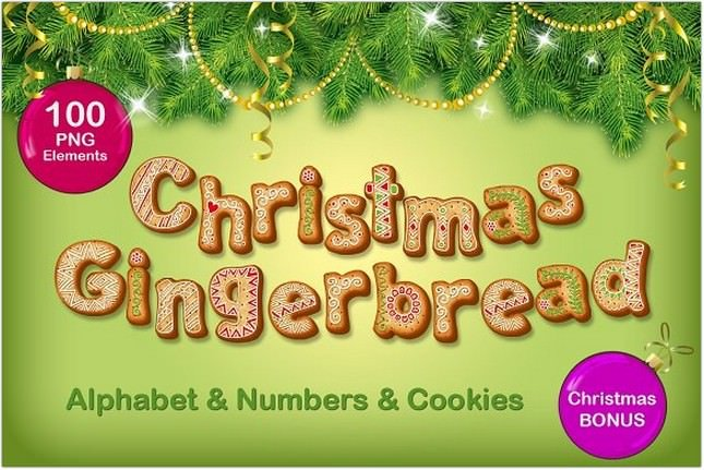 Christmas Gingerbread Alphabet