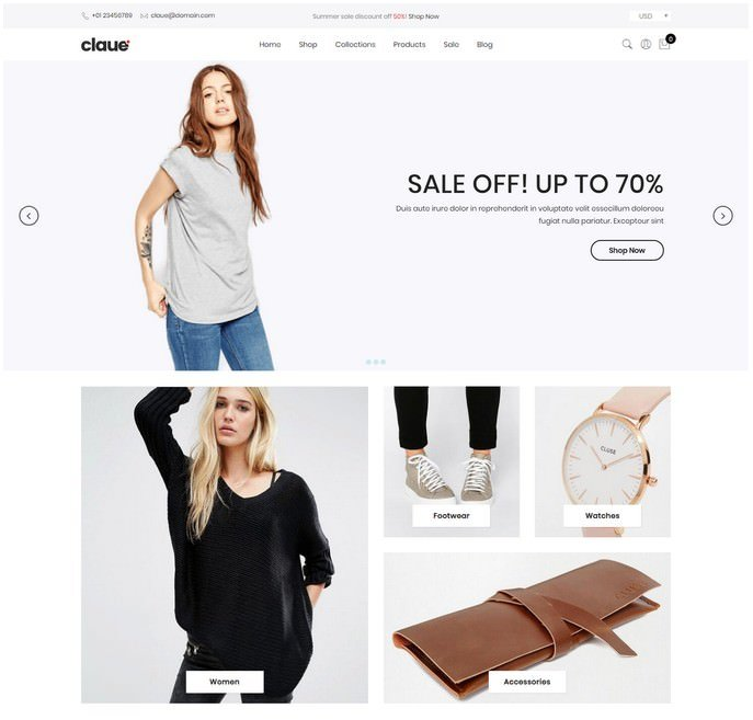 Claue - Mobile-First Shopify theme