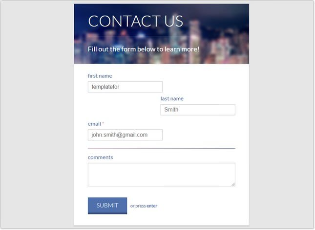 Clean Contact Form
