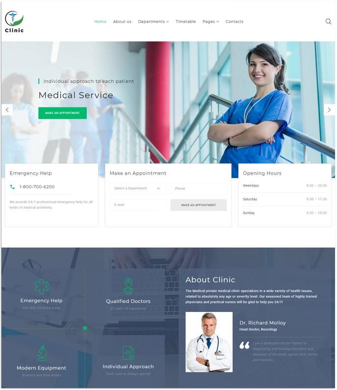 Medical Service Multipage HTML5 Website Template