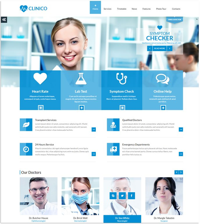 Responsive Medical and Health Template