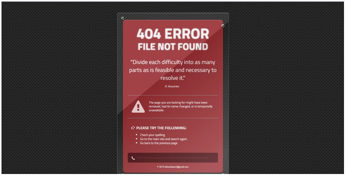 Create nice 404 error page