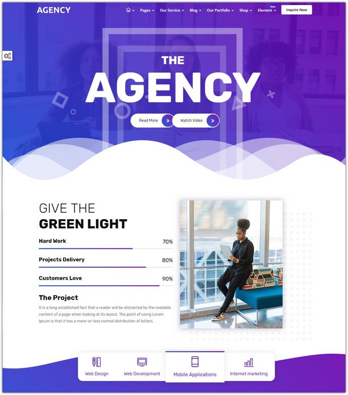 Agency Creative Multipurpose Bootstrap 4 HTML Template