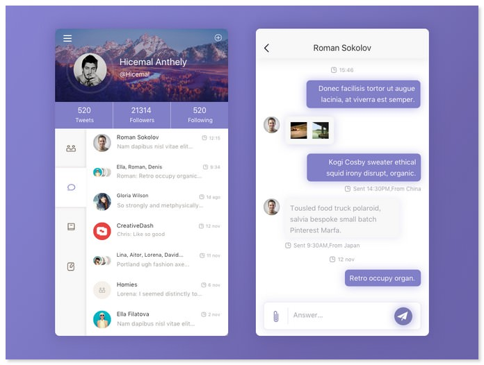 Daily UI 002 # Chat App Page