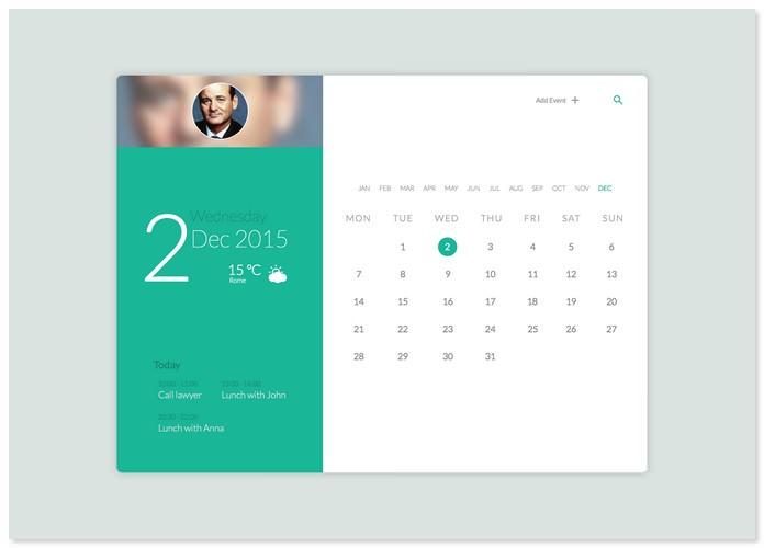 Daily UI Calendar #038