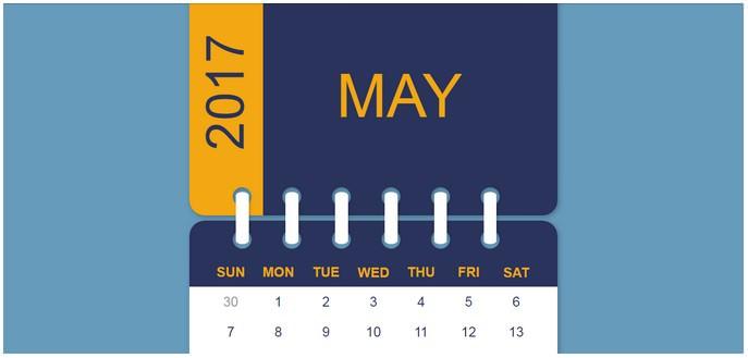 DailyCSSImages 9 - Calendar