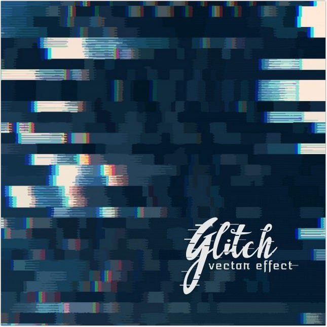Glitch Vector Abstract Background