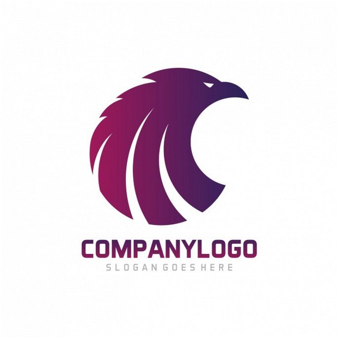 Eagle Shape Logo Template Design