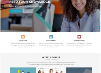 Educar - Powerful Education, Courses Drupal Theme