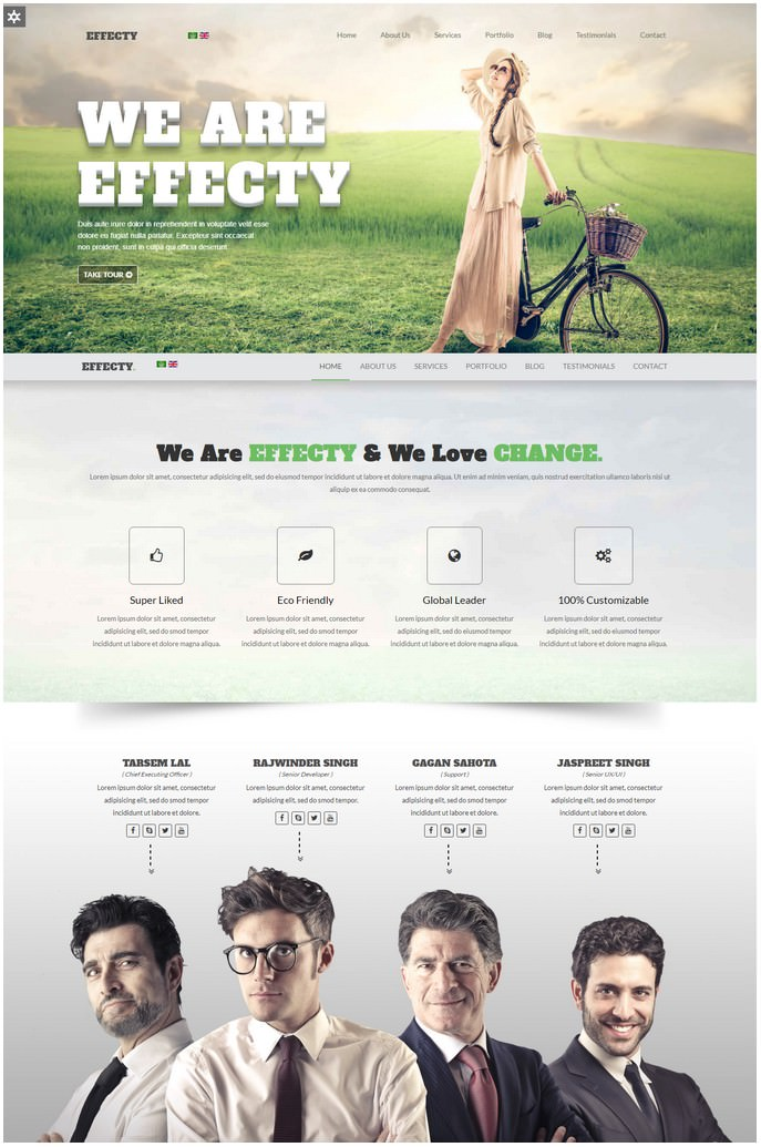 Effecty - Responsive Single Page Responsive Joomla Theme